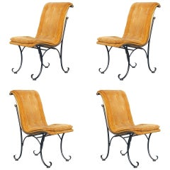 Regency Side Chairs with Bronze Accents by Russel Woodard, Set