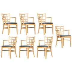 Paul Frankl for Brown Saltman Dining Chair, Set of Seven
