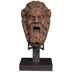 Antique Italian Classical Marble Head of a Man Sculpture, circa 1800