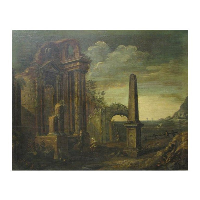 Oil on Canvas Painting, 18th Century For Sale