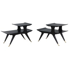 Ico & Luisa Parisi Style Sculptural Italian End Tables