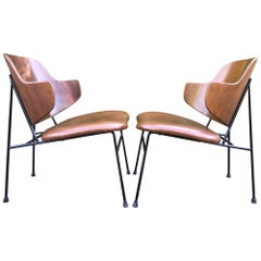 Exquisite Penguin Lounge Chairs by Ib Kofod-Larsen