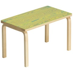 Artek Bench 153B ColoRing in Green and Yellow by Alvar Aalto and Jo Nagasaka