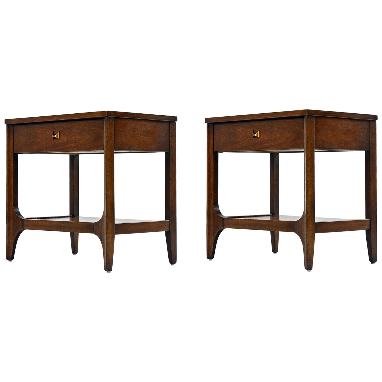 Broyhill Brasilia Nightstand Bedside End Tables By O Niemeyer At 1stdibs