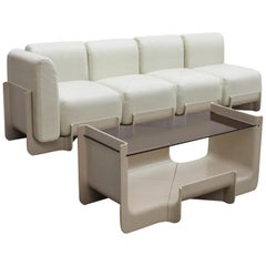1968 Set of Sofa and Coffee Table