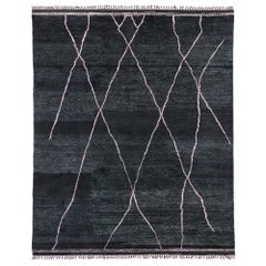 Contemporary Moroccan Area Rug with Scandinavian Minimalism and Luxe Style