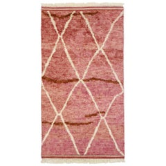 New Contemporary Moroccan Style Accent Rug with Romantic Postmodern Design