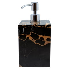 Luxury Squared Soap Dispenser in Portoro Marble