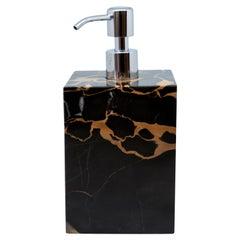 Luxury Squared Soap Dispenser in Portoro Marble