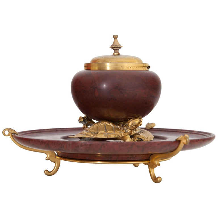 Inkwell by F. Barbedienne, France, circa 1900 For Sale