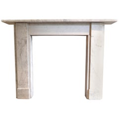 Beautifully Veined Georgian Carrara Marble Fireplace Mantel Piece