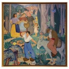 """Painting """"Le Retour des Champs"""", Nabi School, circa 1910"""