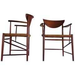 Pair of Armchairs by Peter Hvidt & Orla Mølgaard-Nielsen for Søborg Møbelfabrik