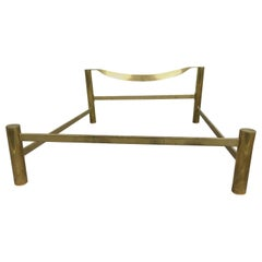 Mid-Century Modern Italian Brass Bed by Luciano Frigerio from 1970s
