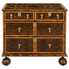 Late 17th Century William & Mary Olivewood & Holly Oyster Veneered Chest of Draw