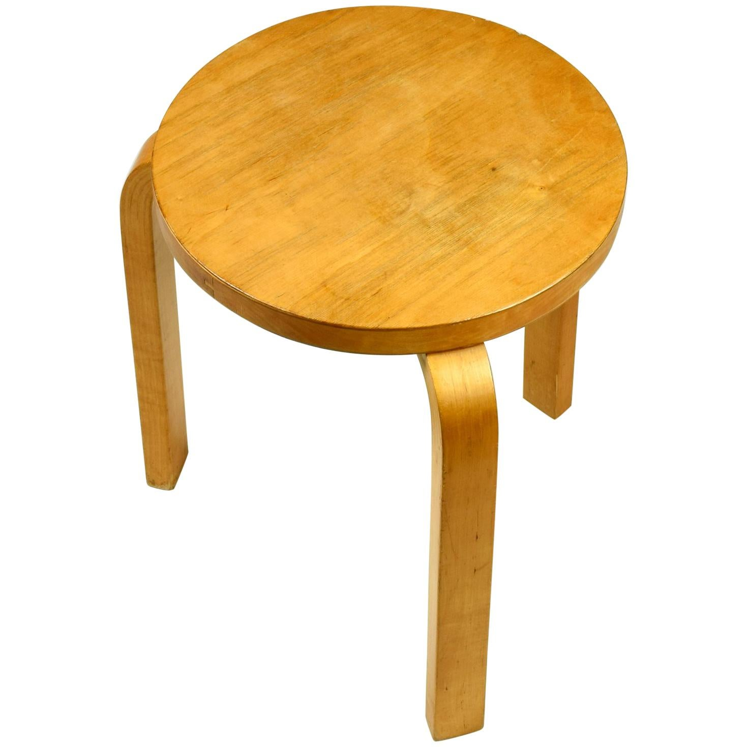 Alvar Aalto, Stacking Stool, Designed 1933, Beautiful Early Example