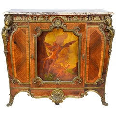 Verni Martin Louis XVI Style Side Cabinet, 19th Century, by Linke