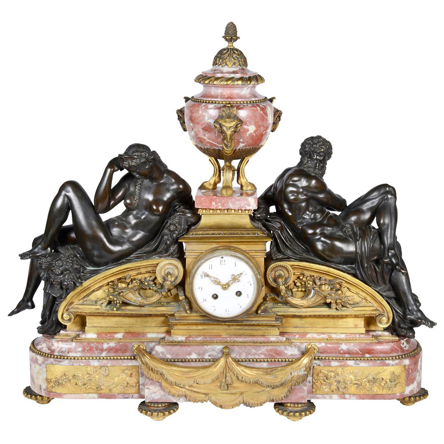 19th Century Louis XVI Style Classical Mantel Clock