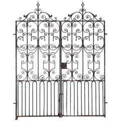 Pair of Regency Wrought Iron Gates, circa 1820