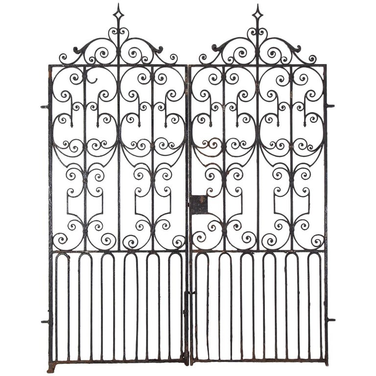 Pair of Regency Wrought Iron Gates, circa 1820 For Sale