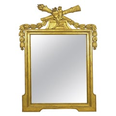 French Neoclassical Style Carved Giltwood Wall Pier Mirror