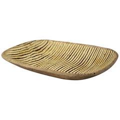 Antique Earthenware Slipware Comb Decorated Dish circa 1800 English