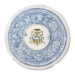 Italian Renaissance Period Maiolica Dish with the Mark of Virgiliotto Calamelli