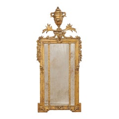 Early 19th Century Italian Neoclassical Gilt and Carved Wood Mirror
