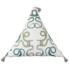 Schumacher Charlap Hyman & Herrero Giove Emerald & Sapphire Triangle Pillow