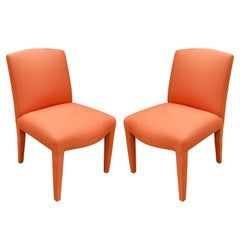 Donghia Pair of Fully Upholstered Side Chairs, 1980s