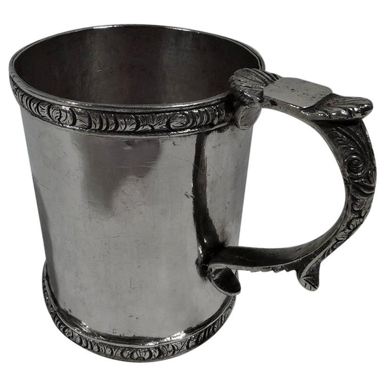Antique South American Classical Silver Christening Mug For Sale