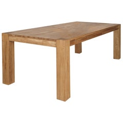 Handcrafted Premium Wild Oak Rectangular Dining Table, Made in Germany