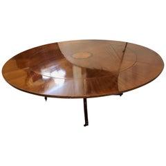 John Stuart Style Circular Inlaid Expandable Dining or Center Table