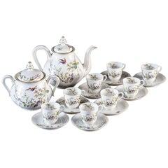 Louis Philippe Antique French Fine Porcelain Tea Set, circa 1850