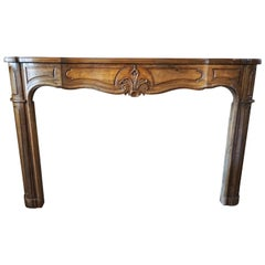 Regence Walnut Mantel