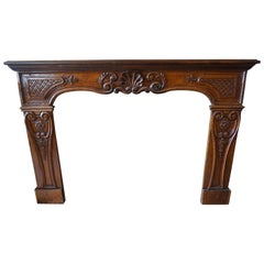 Antique Walnut Mantel