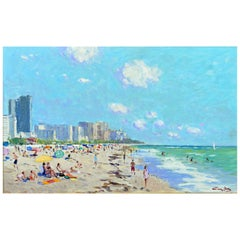 'Miami Beach, Florida' by Niek van der Plas, Well Listed Dutch Impressionist
