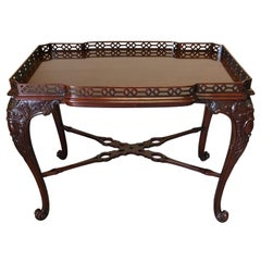 Lovely Widdicomb Carved Mahogany Tea Table Cocktail Table