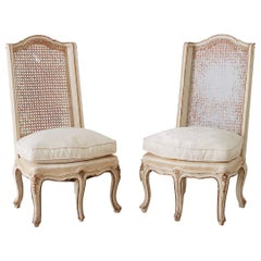 Pair of French Provincial Five-Leg Slipper Chairs