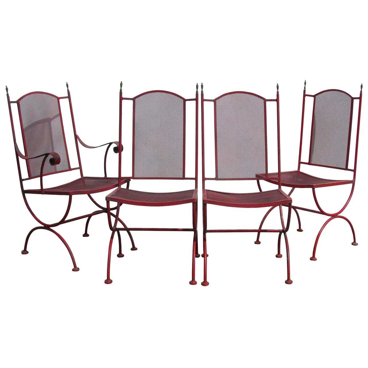 Classical Regency Style Iron Curule Chairs