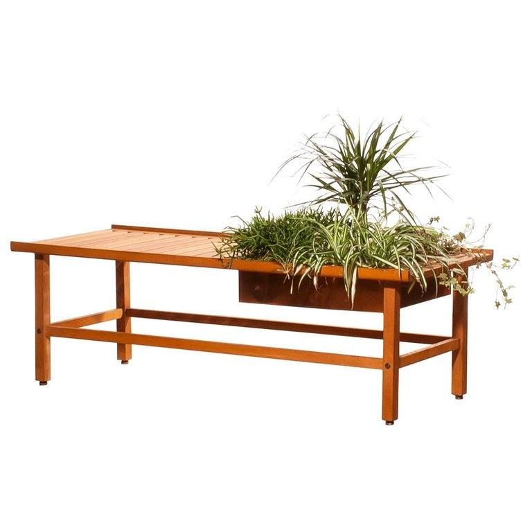 1950s, Plant Bench / Coffee Table by Yngve Ekström in Teak For Sale