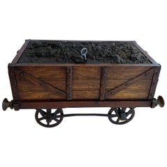 Wonderful Humidor Oak Tin Railway Coal Wagon Train Car form Cigar, London
