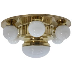 Big Art Deco / Art Nouveau Ceiling Lamp / Chandelier, 1930s