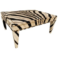 Forsyth Zebra Hide Parsons Style Ottoman