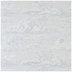 Schumacher Cloud Toile Wallpaper in Mineral, Two-Roll Set
