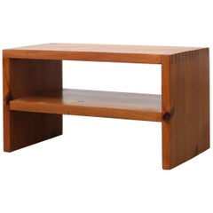 Ate van Apeldoorn Pine Side Table with Lower Shelf