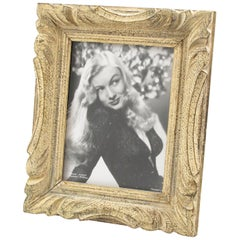 French 1940s Carved Wood Picture Frame