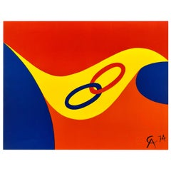 Original Alexander Calder Litho from the Flying Colors Collection, 1975