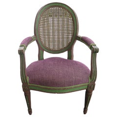18th Century Caned Chair with Original Frame Finish
