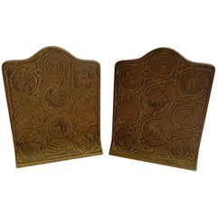 Wonderful Pair of Tiffany Studios Bronze Bookends Set Greek Zodiac 1683 New York